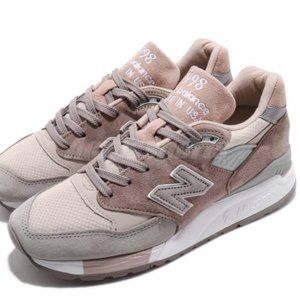 New Balance W998AWA B Made In USA Pink Grey White